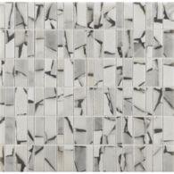 safari bianco grigio mosaic in polished finish