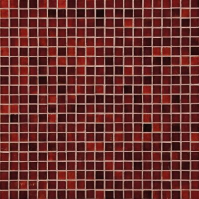 waterglass mosaic in crimson