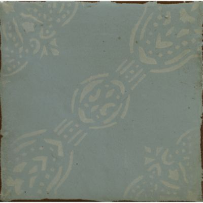 "4-5/8"" x 4-5/8"" la spezia 5 decorative tile in aqua and off white"