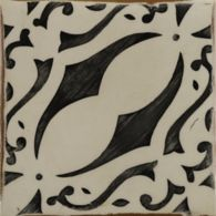 "4-5/8"" x 4-5/8"" la spezia 7 decorative tile in charcoal and off white"