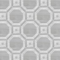 "Union Octobella Grand 48"" x 48"" pattern repeat in Carrara and Parquet Gris"