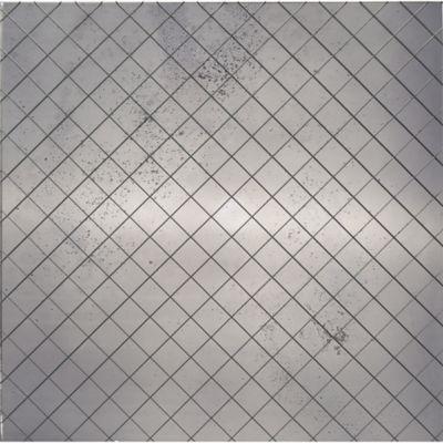 "12"" x 12"" field in silver flake rustic"