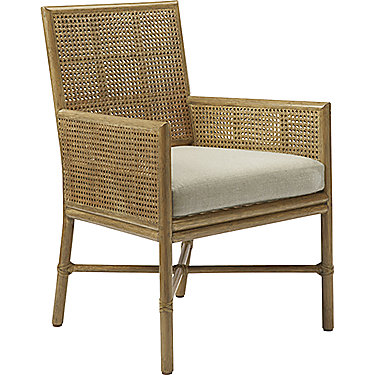 Square Back Caned Arm Chair