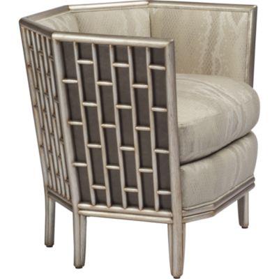 McGuire Furniture Barbara Barry Fretwork Lounge Chair No