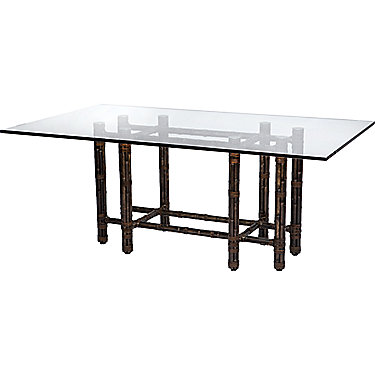 Mcguire Furniture Rectangular Dining Table In Black Bamboo No Ba