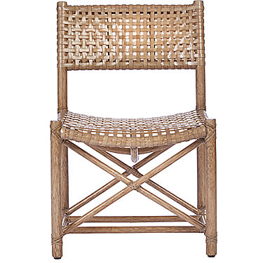 Laced Rawhide Armless Chair