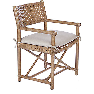 Laced Rawhide Arm Chair