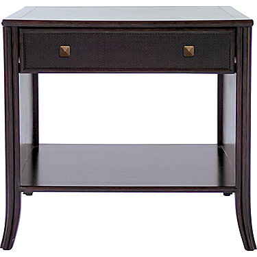 Barbara Barry Caned Bedside Table