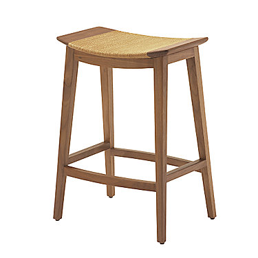 Mcguire Furniture Curved Walnut Counter Stool No O 401