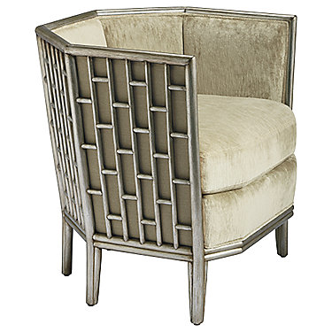 Barbara Barry Fretwork Lounge Chair