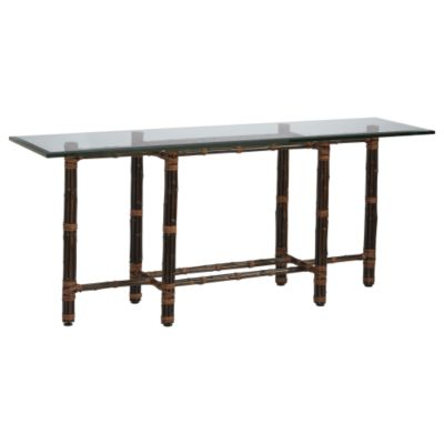 Console Table With Six Legs In Black Bamboo