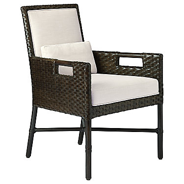 Thomas Pheasant Woven Leather Dining Arm Chair