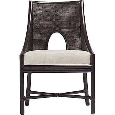 Barbara Barry Petite Caned Arm Chair