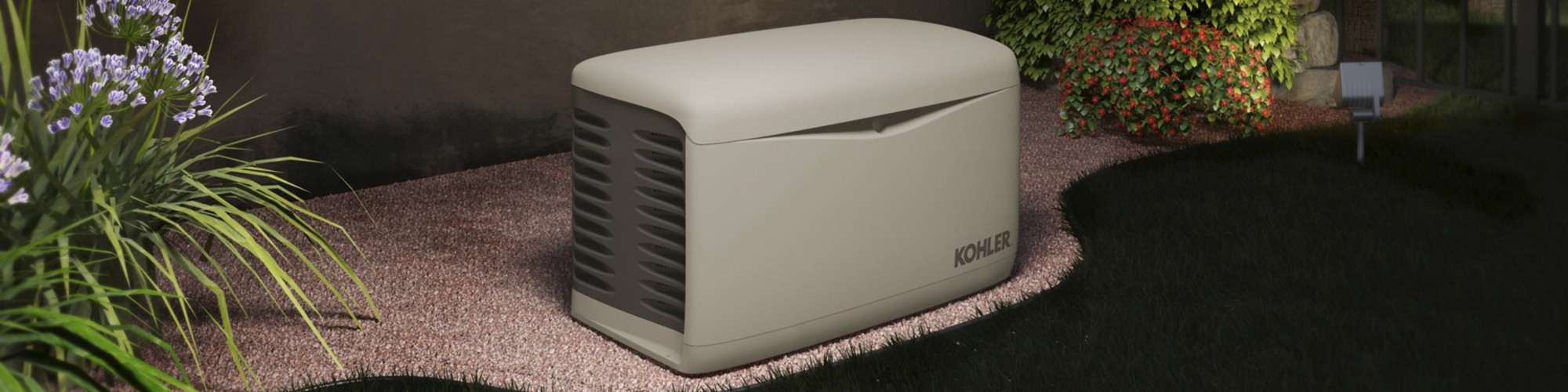 Kohler Generator outside a home