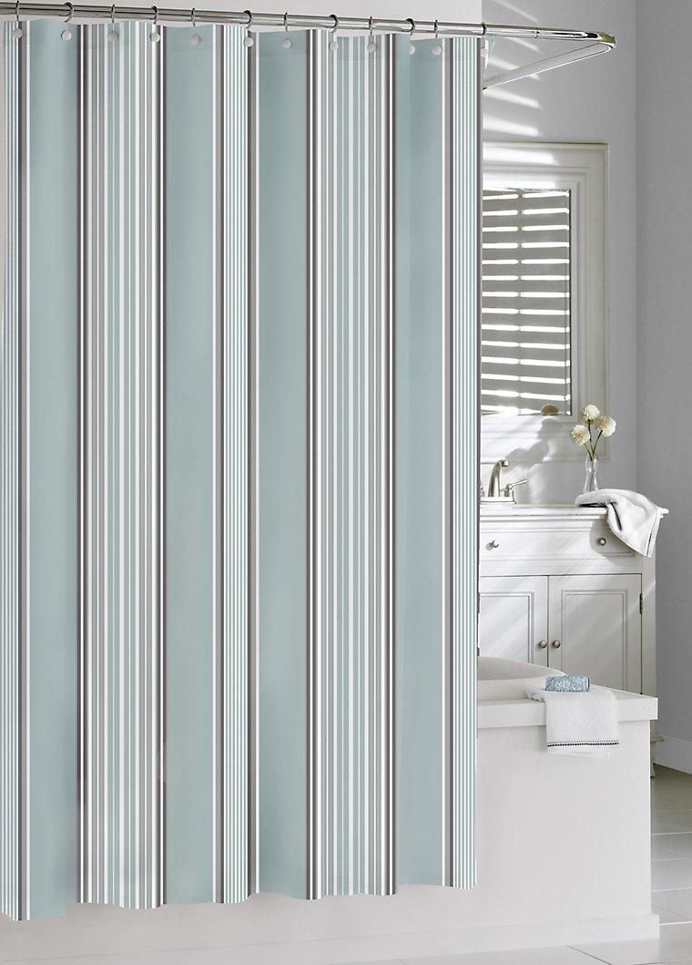 Luxury Shower Curtains - Capri Stripe Shower Curtain by Kassatex ...
