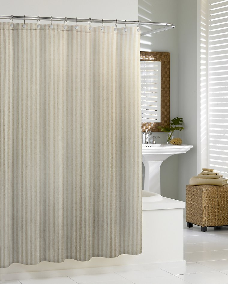 luxury shower curtains linen chevron shower curtain by kassatex