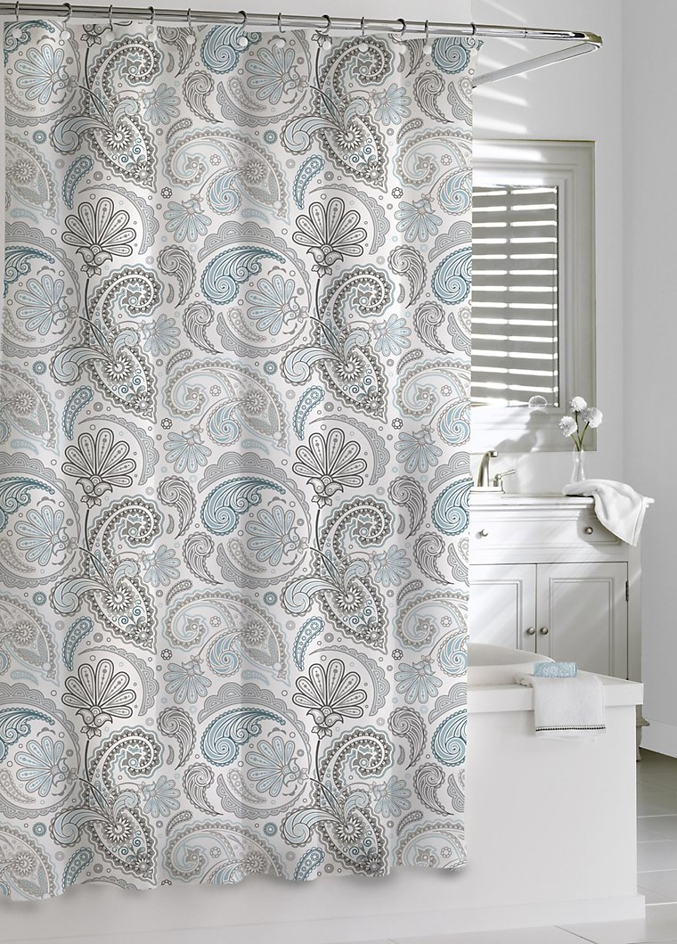 Luxury Shower Curtains Paisley Shower Curtain By