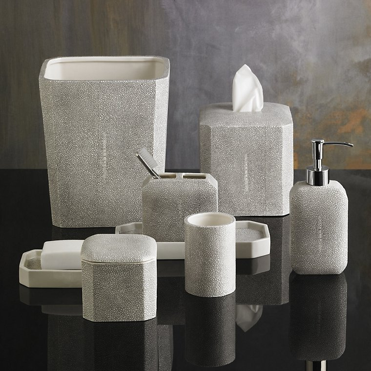 luxury bath accessory sets shagreen accessories by. Black Bedroom Furniture Sets. Home Design Ideas