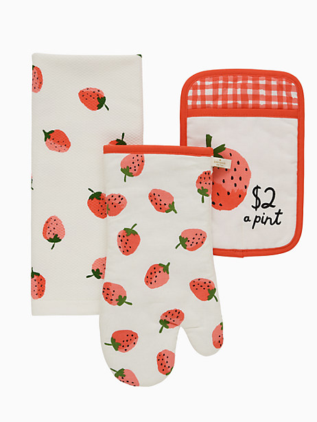 TC NOVELTY STRAWBERRIES  3PK SET by kate spade new york