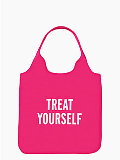 treat yourself reusable shopping tote by kate spade new york