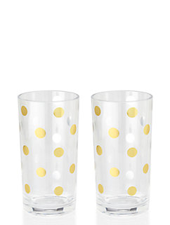 raise a glass acrylic highball glasses by kate spade new york