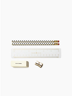 gold dots pencil pouch set by kate spade new york