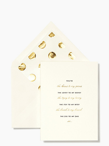 hocus to my pocus bridesmaid card set by kate spade new york