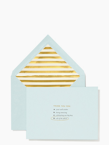 Kate Spade All Of The Above Thank You Card Set, Light Blue