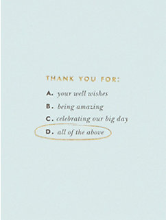 all of the above thank you card set by kate spade new york