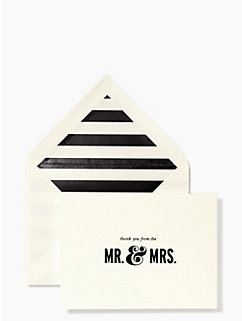 thanks from the mr. & mrs. card set by kate spade new york