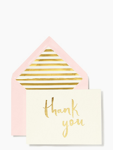paint brush thank you card set by kate spade new york