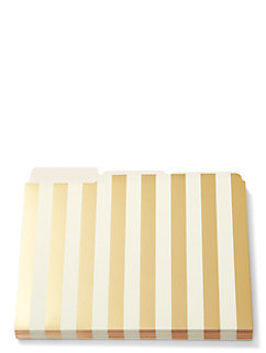 strike gold stripe file folders by kate spade new york
