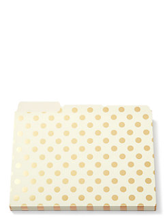 strike gold dot file folders by kate spade new york