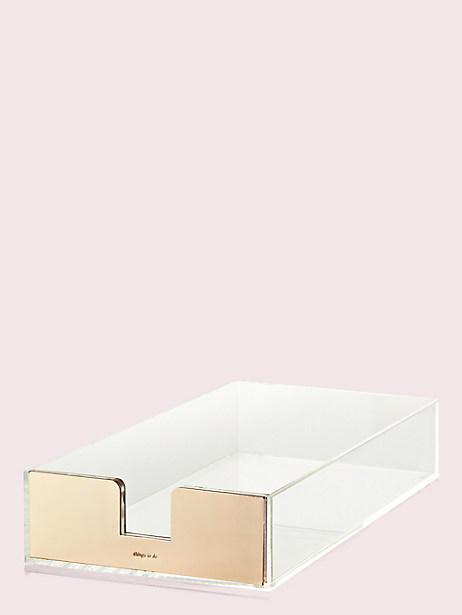 Kate Spade Strike Gold Desk Tray, Gold