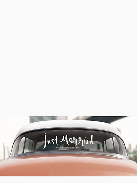 just married window cling by kate spade new york