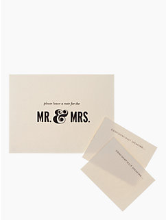 For the Mr. & Mrs. Guest Book by kate spade new york