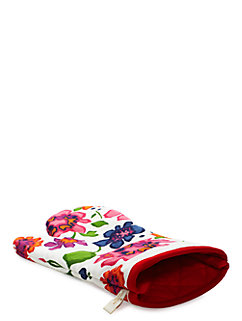 festive floral printed oven mitt by kate spade new york