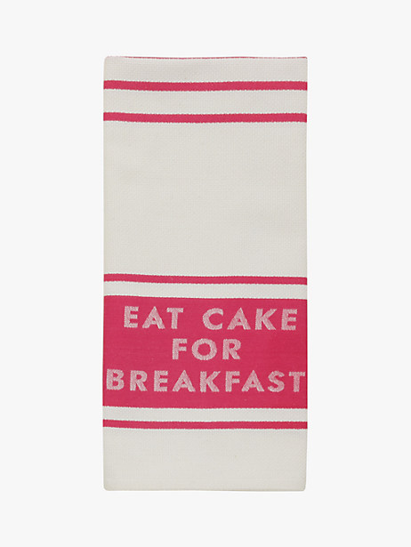 Kate Spade Diner Stripe Kitchen Towel, Pink