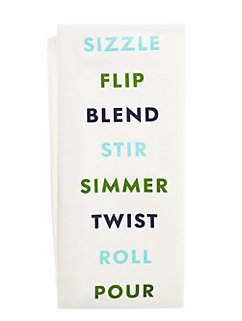 swirl peel slice kitchen towel by kate spade new york