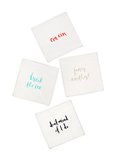 small talk cocktail napkin set by kate spade new york