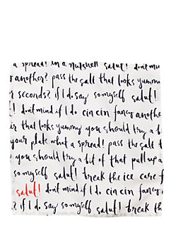small talk napkin by kate spade new york