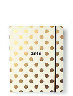 2016 17-month large agenda- gold dots by kate spade new york