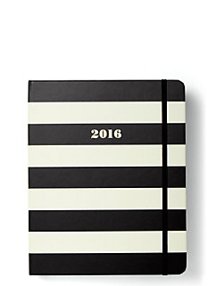 2016 17-month large agenda- Black stripe by kate spade new york