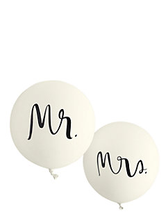 mr. and mrs. balloon set by kate spade new york