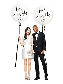 love is in the air bridal balloons by kate spade new york
