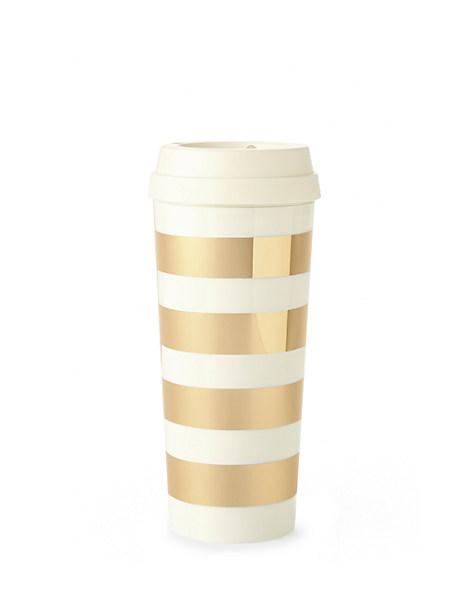 gold stripe thermal mug by kate spade new york