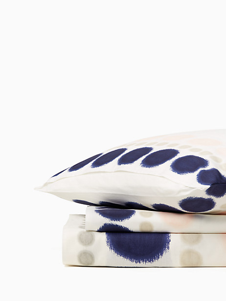 Kate Spade Ikat Dot Duvet, Blush/Navy - Size FULL/QUEEN