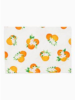 orange blossom  orange blossom placemat by kate spade new york