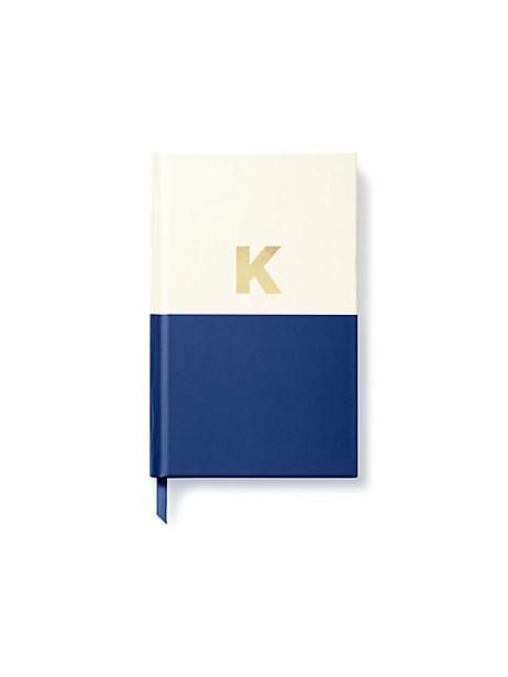 Kate Spade Initial Notebook, K