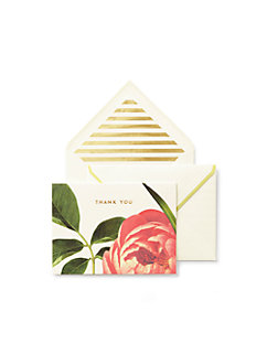 floral thank you card set by kate spade new york
